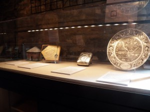 New display of historical objects at the Block House. Photo credit: Roy Engelbrecht.